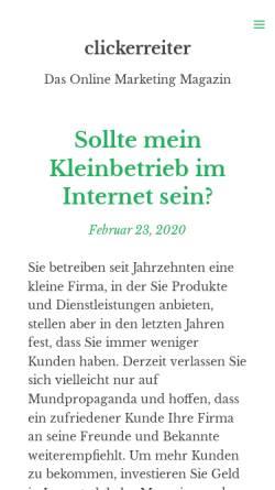 Vorschau der mobilen Webseite www.clickerreiter.de, Pferdetrainerin Christiane Müller