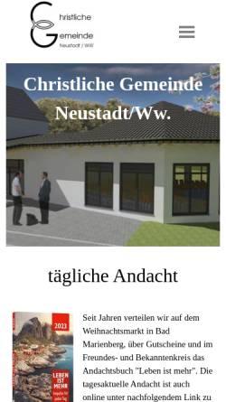 Vorschau der mobilen Webseite www.cg-neustadt.de, Christliche Gemeinde Neustadt