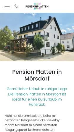 Vorschau der mobilen Webseite www.pension-platten.de, Pension Platten