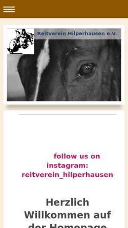Vorschau der mobilen Webseite www.reitverein-hilperhausen.de, Reitverein Hilperhausen e.V.