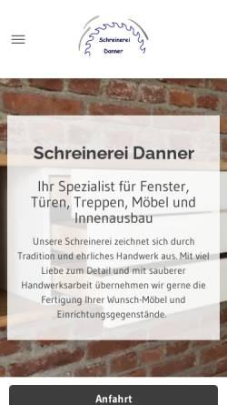 Vorschau der mobilen Webseite www.schreinerei-danner.de, Schreinerei Danner