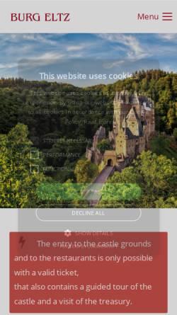 Vorschau der mobilen Webseite www.burg-eltz.de, Burg Eltz