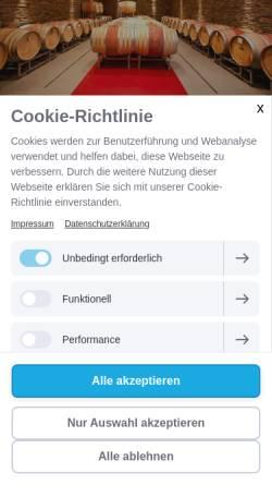 Vorschau der mobilen Webseite www.weingut-burggarten.de, Weingut und Weinquartier Burggraben