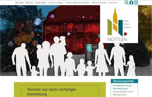 Vorschau von www.nottuln.de, Gemeinde Nottuln
