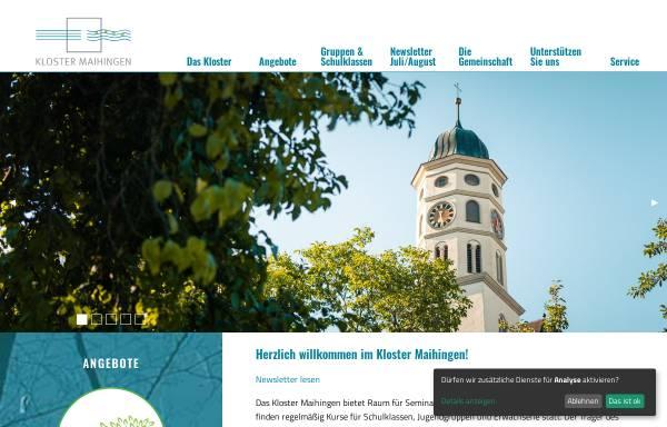 Vorschau von www.kloster-maihingen.de, Maihingen