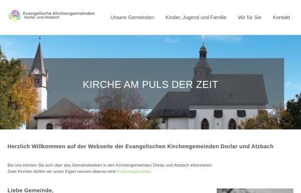Vorschau von www.gemeinde-lebt.de, Evangelische Kirchengemeinden Dorlar und Atzbach