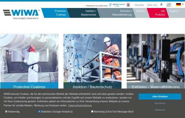 Vorschau von www.wiwa.de, WIWA Wilhelm Wagner GmbH & Co. Kg