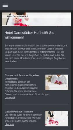 Vorschau der mobilen Webseite www.darmstaedter-hof.eu, Hotel Darmstädter Hof