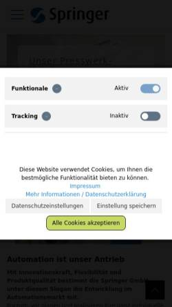 Vorschau der mobilen Webseite www.a-j-a.de, Axel Jürgens Automation
