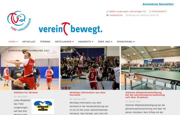 Vorschau von www.tv02.de, TV Langenargen Tischtennisabteilung
