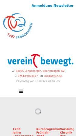 Vorschau der mobilen Webseite www.tv02.de, TV Langenargen Tischtennisabteilung