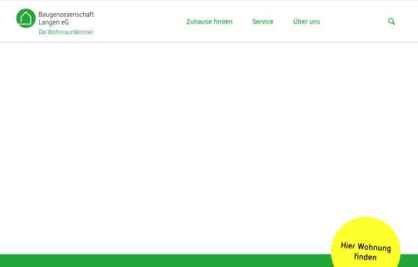 Vorschau von www.baugenossenschaft-langen.de, Baugenossenschaft Langen eG