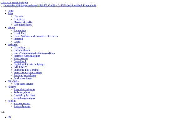 Vorschau von www.baier-praegetechnik.de, Baier GmbH & Co KG