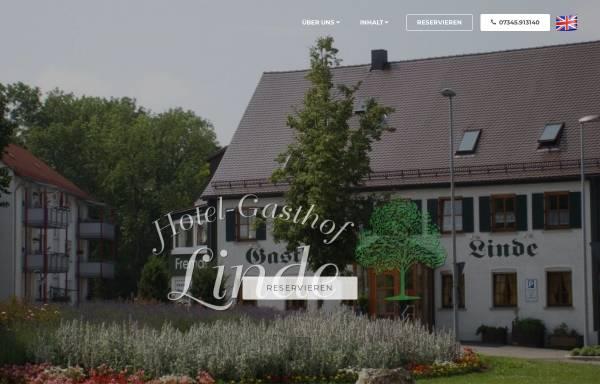 Vorschau von www.linde-langenau.de, Hotel-Gasthaus Linde