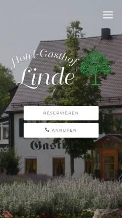 Vorschau der mobilen Webseite www.linde-langenau.de, Hotel-Gasthaus Linde