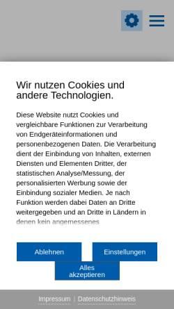 Vorschau der mobilen Webseite www.langenau.de, Langenau
