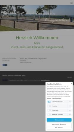 Vorschau der mobilen Webseite www.zrfv-langenscheid.de, Zucht-, Reit- und Fahrverein Langenscheid