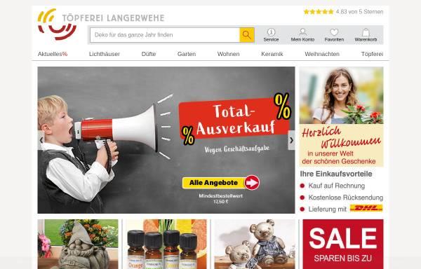 Vorschau von www.toepferei-langerwehe.de, Töpferei Langerwehe Kuckertz & Rennertz