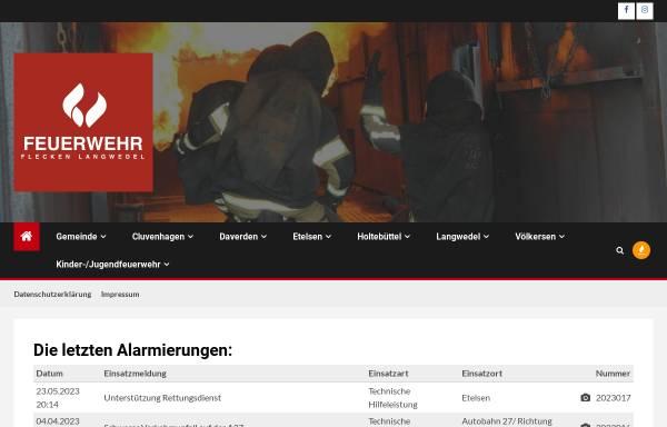 Vorschau von www.feuerwehr-langwedel.de, Gemeindefeuerwehr Langwedel