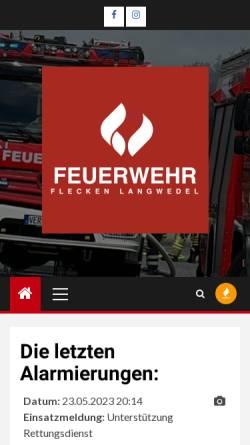 Vorschau der mobilen Webseite www.feuerwehr-langwedel.de, Gemeindefeuerwehr Langwedel