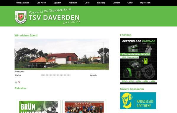 Vorschau von www.tsv-daverden.de, TSV Daverden