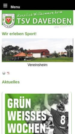 Vorschau der mobilen Webseite www.tsv-daverden.de, TSV Daverden