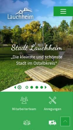Vorschau der mobilen Webseite www.lauchheim.de, Stadt Lauchheim