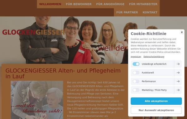 Vorschau von www.glockengiesser-lauf.de, Glockengiesser Alten-und Pflegeheime