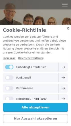 Vorschau der mobilen Webseite www.glockengiesser-lauf.de, Glockengiesser Alten-und Pflegeheime