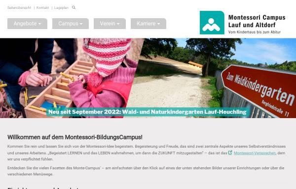 Vorschau von www.montessori-lauf.de, Montessori Vereinigung Nürnberger Land e.V.
