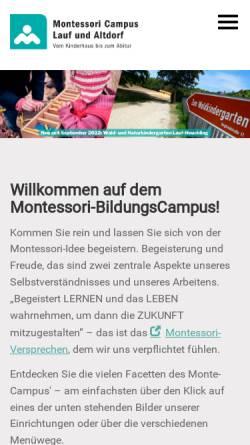 Vorschau der mobilen Webseite www.montessori-lauf.de, Montessori Vereinigung Nürnberger Land e.V.