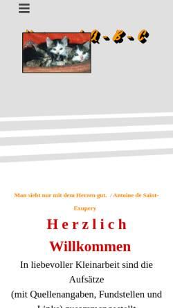 Vorschau der mobilen Webseite www.tierschutz-lauf.de, Tierschutz Lauf