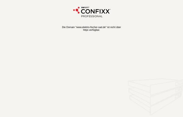 Vorschau von www.elektro-fischer-sad.de, Elektro Fischer GmbH