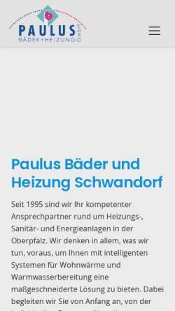 Vorschau der mobilen Webseite www.paulus-haustechnik.de, Paulus Bäder und Heizung GmbH