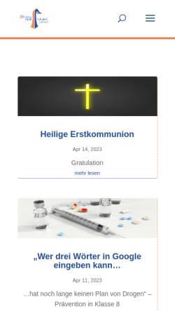 Vorschau der mobilen Webseite www.ngs-lebach.de, NGS Nikolaus Groß Schule