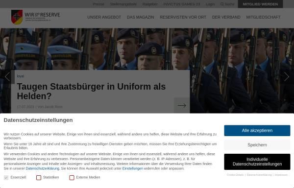 Vorschau von www.reservistenverband.de, RK Reservistenkameradschaft Lebach