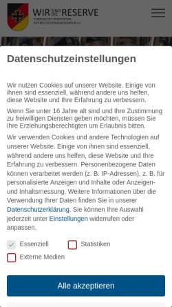 Vorschau der mobilen Webseite www.reservistenverband.de, RK Reservistenkameradschaft Lebach
