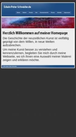 Vorschau der mobilen Webseite www.edwin-peter-schneider.de, Schneider, Edwin Peter