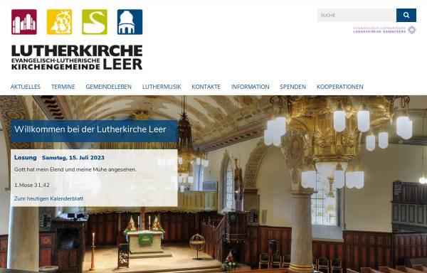 Vorschau von www.lutherkirche.de, Orgelbau-Förderkreis Lutherkirche Leer