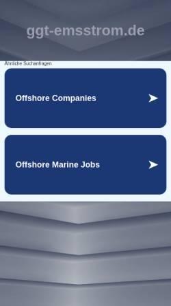 Vorschau der mobilen Webseite www.ggt-emsstrom.de, Schulschiff Emsstrom