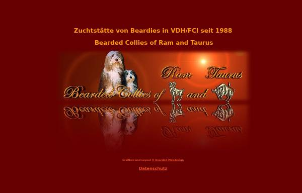 Vorschau von www.ramandtaurus.de, Bearded Collies of Ram and Taurus