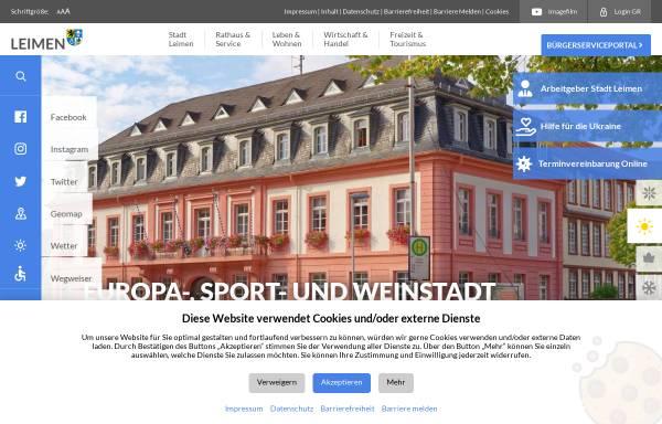Vorschau von www.leimen.de, Stadt Leimen