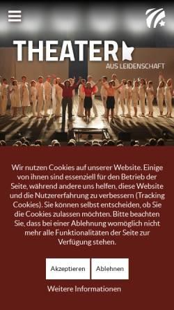Vorschau der mobilen Webseite www.tudk.de, Theater unter den Kuppeln