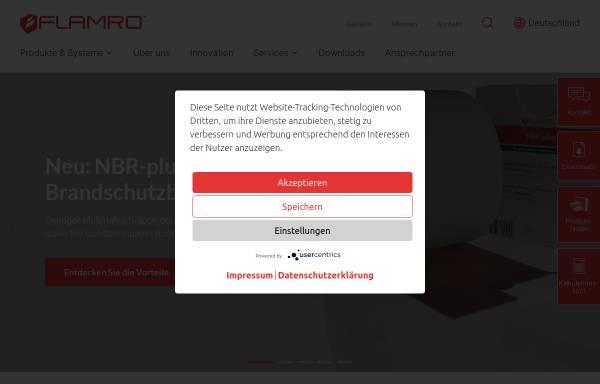 Vorschau von www.flamro.de, Flamro Brandschutz-Systeme GmbH