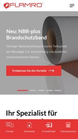 Vorschau der mobilen Webseite www.flamro.de, Flamro Brandschutz-Systeme GmbH