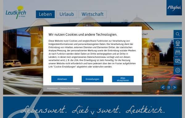 Vorschau von www.leutkirch.de, Leutkirch