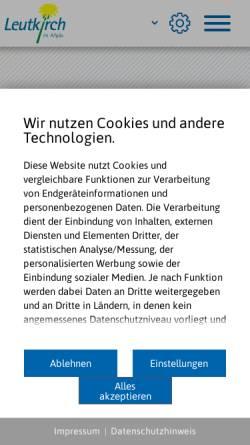 Vorschau der mobilen Webseite www.leutkirch.de, Leutkirch