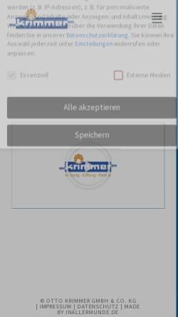 Vorschau der mobilen Webseite www.krimmer-leutkirch.de, Otto Krimmer OHG