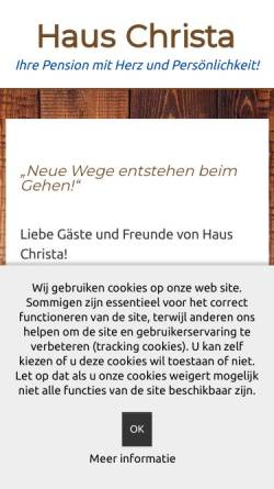 Vorschau der mobilen Webseite www.haus-christa-braunlage.com, Haus Christa