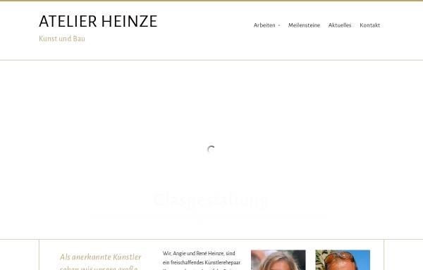Vorschau von www.raj-heinze.de, Atelier Heinze - Kunst und Bau
